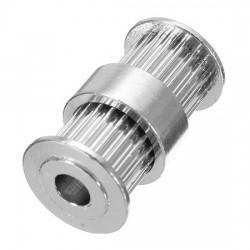 Puleggia Doppia GT2 20 Denti (5mm) in Alluminio