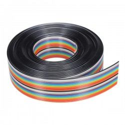 Cavo Piatto Ribbon 20 Vie (Multicolore)