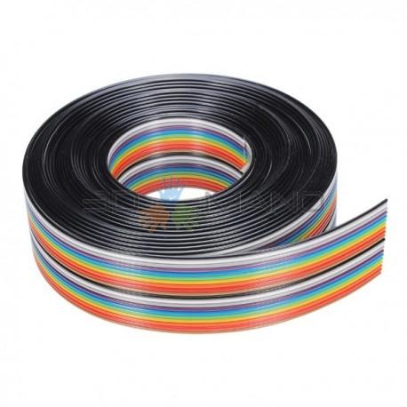 Cavo Piatto Ribbon 20 Vie (Multicolore)