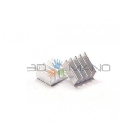 Dissipatore Alluminio 8.8x8.8x5mm - Driver Stepper