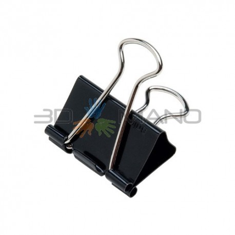 Binder Clip per Piano Stampa 19mm