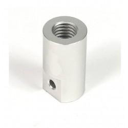 Giunto Rigido in Alluminio M5 (5 x 5 mm) con Filettatura