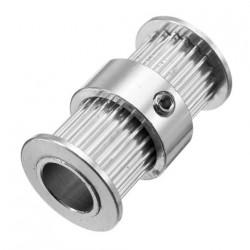 Puleggia Doppia GT2 20 Denti (8mm) in Alluminio