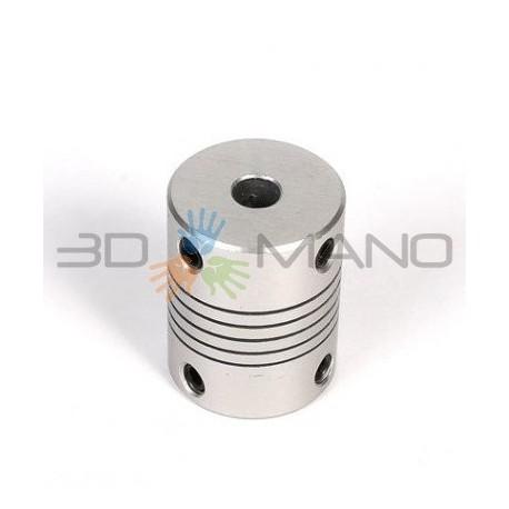 Giunto Flessibile in Alluminio 6 x 6.35 mm