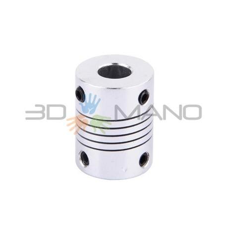 Giunto Flessibile in Alluminio 8 x 8 mm