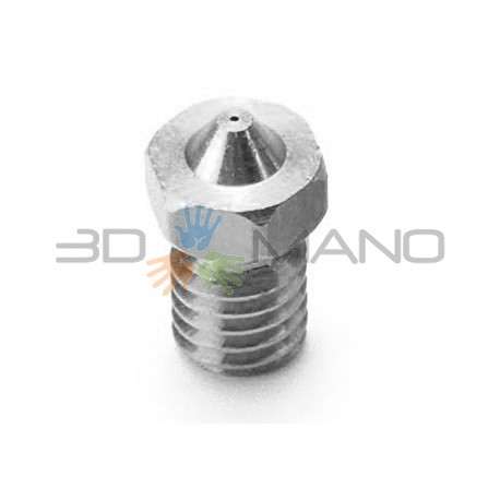Nozzle 0.25mm E3D Compatibile in Acciao INOX 1.75mm